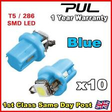 10X Blue T5 B8.5D Car Gauge 5050 1SMD LED Speedo Dashboard Dash Side Light Bulb