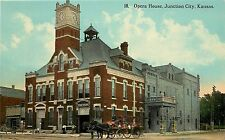 Vintage Postcard Opera House Junction City KS Geary County,