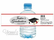 Graduation Red Water Bottle Wrappers - Graduation Party Favors- Set of 12