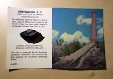 Greenwood Copper Smelter BC Smallest City in Canada SLAG attached Postcard Set