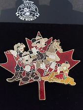Disney Canadian Mounties Maple Leaf Goofy Mickey Minnie Donald Pluto Jumbo Pin