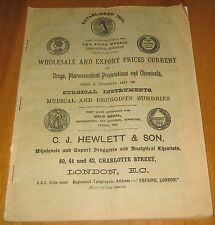 Wholesale and Export Druggists and Pharmacists current prices cira 1901