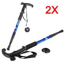 2 x Extending Telescopic Trekking Hiking Pole Stick Walking Antishock Cane Staff