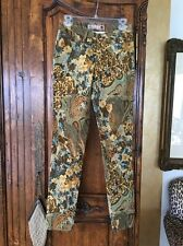 Gjg Los Angeles Printed Jeans Cotton Spandex Size 1 (small)