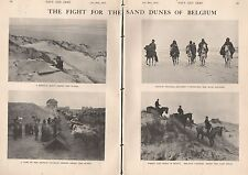 1915 WW1 THE FIGHT FOR THE SAND DUNES OF BELGIUM 2 PAGES