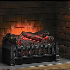 Electric Fireplace Insert Log Portable Living Room Ventless Heater Wall w Remote