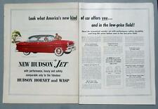 Original 1953 Hudson Jet Ad LOOK...CAR OFFER YOU IN THE LOW PRICE FIELD
