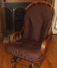 Glider Rocker Chair SlipCovers 4 UR Cushions-UpCycle-Chocolate Brown