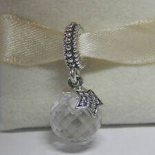 New Pandora Charm 791392CZ Clear Moon & Star Dangle slide Bead Box Included