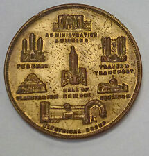 {BJSTAMPS} 1933 CENTURY of PROGRESS Chicago Medal w/Fair attractions on Reverse