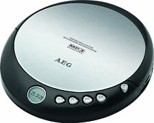 AEG CDP 4226 DISCMAN CD PLAYER TRAGBAR MP3 KOMPATIBEL BATTERIEBETRIE  SCHWARZ