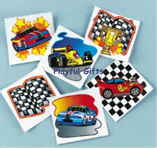 24 Racing Tattoos party Favors Cars flags Cars