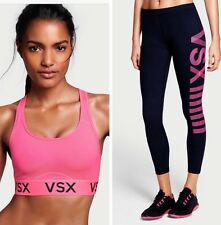 NEW Victoria's Secret VSX Graphic Workout Tight + Sport Bra Set Size Medium