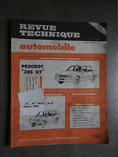 REVUE TECHNIQUE AUTOMOBILE RTA PEUGEOT 305 FIAT PANDA 1984