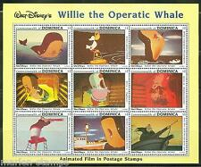 DOMINICA DISNEY  WILLIE THE WHALE SHEETLET  SCOTT #1631  MINT NEVER HINGED