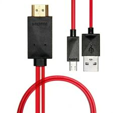 MHL to HDMI Cable Adapter For Samsung Galaxy S3 S4 Note2 - 2M/6Ft 1080P FULL HD