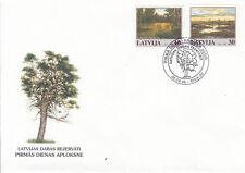 Lettland / Latvija 477-478 FDC / Teitsche (Telci) und Grüningen (Grini)