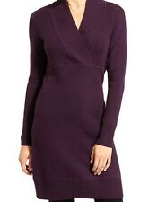 ATHLETA Innsbrook Sweater Dress - Wild Raisin NEW $138 Sz L LARGE    Fall 2016