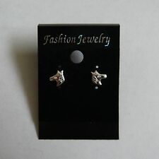 Traditional Sterling Silver Equestrian Horse Earrings