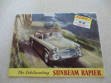 Original 1958 Sunbeam Rapier automobile advertising brochure