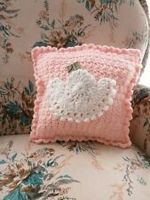 ANGEL TOOTH FAIRY PILLOW IN PINK  HAND CROCHETED-- ONE OF A KIND