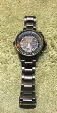 Seiko SNAB73P1 Flight Master Alarm Chronograph Black Dial Pilot Aviator Watch 44