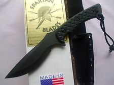 Spartan Blades Nyx Fixed Blade Fighting Survival Knife Kydex Sheath SB6BKBKKYBK