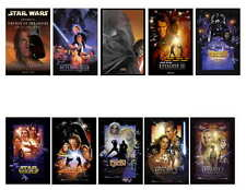 STAR WARS MOVIE POSTER PHOTO-FRIDGE MAGNETS SET OF 10