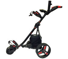 New Remote Controlled Electric Golf Caddy Golf Push Cart - BLACK/RED