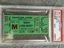 2001 A Space Odyssey Original 1969 Movie Ticket Stanley Kubrick PSA 7