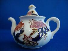 Mason's Mandalay Miniature Teapot 2 1/2 inches tall to top of finial