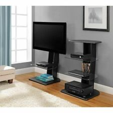 "Up To 50"" Flat Screen TV Mount Stand Home Media Entertainment Console Black"