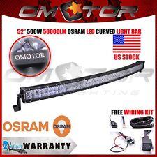 OSRAM 52INCH 500W LED CURVED WORK LIGHT Bar Flood Spot Combo OFFROAD SUV ATV EM