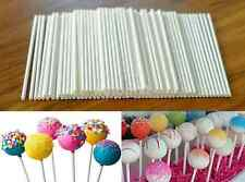 100 Pcs Plastic Lollipop Sticks Candy Cookies Chocolate Cake Pop Making White