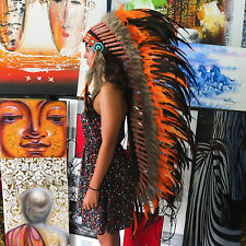 INDIAN HEADDRESS Rasta Chief War bonnet Costume Native American Halloween