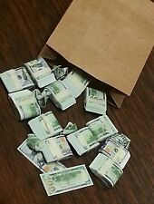 1/6 scale Bag-o-Money miniature toy money. $100 bills! GI Joe Barbie!