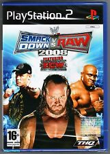 PS2 Smackdown Vs Raw 2008, UK Pal, New & Sony Factory Sealed
