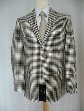 DAKS Brand New Brown Small Check Jacket 40R RRP £495