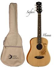 Luna Safari Series Henna 3/4-Size Travel Acoustic Guitar - Natural, SAF HEN