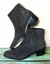NEW Free People Grey City gray suede studded Vision To See Ankle Boots 7 $218