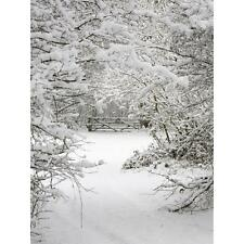 3X5FT Vinyl Snow Winter Tree Backdrop Photography Background Photo Studio Props