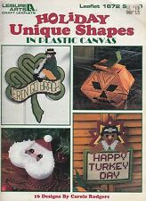 Leisure Arts Holiday Unique Shapes in Plastic Canvas pattern book 1996