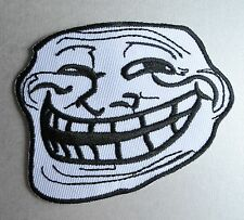 Trollface Iron-on Patch Problem U Mad Cool Troll Face 4Chan Internet Meme Geek