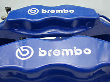 SET OF 2x 105MM and 2X 75MM BREMBO WHITE BRAKE CALIPER DECALS STICKERS HIGH TEMP