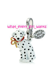 NEW AUTHENTIC JUICY COUTURE Limited Edition DALMATIAN DOG PUPPY WHITE CHARM NIB