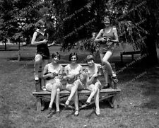 8x10 Print Women in Bathing Suits Playing Ukuleles 1926 #16039u