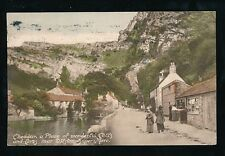 Somerset CHEDDAR Cliffs village Used 1920 PPC pub by G D Coulsting of Weston