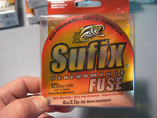 Sufix Braid Performance Fuse Braided Fishing Line 6 LB 125 YD Smoke Blue Green