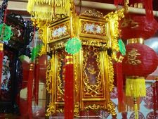 CHINESE XL 36cm GOLD RED DRAGON PALACE LANTERN LIGHT JAPANESE WEDDING PARTY DECO