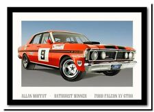 QUALITY CANVAS ART PRINT  Ford falcon XY-GTHO Moffat Racing car A4 poster